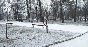 ВИДЕО! Первый снег в парке после празников в Вознесенске