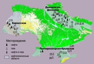 Карта нафти та газу n